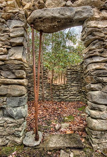 Sugarlands Stone Cabin Ruins